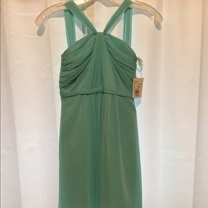 Turquoise/aqua halter dress